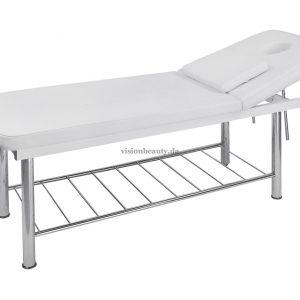 2203 Stationäre Massageliege, 2-teilig, mit einem sehr stabilen verchromten Rahmen